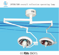 LW700/700 Double heads halogen Operating Lamp/Ceiling Surgical lamp
