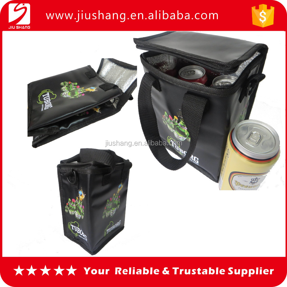 2016 new custom design mini black ice cooler bag with printing logo