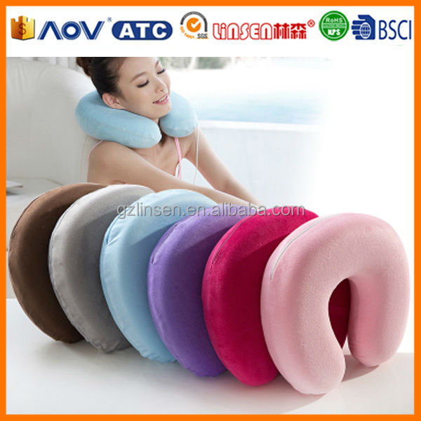 comfortable goods from china Linsen memory foam cylinder neck pillow