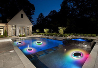 2016 new gadget color solar pool light led solar power swimming pool light color changing floating on water
