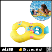 Promotional Gift big swim ring Twin Double Baby Inflatable Swim Float inflatable baby infant swimming float ring