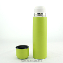 high grade stainless steel vacuum heated metal flask with different stoppers
