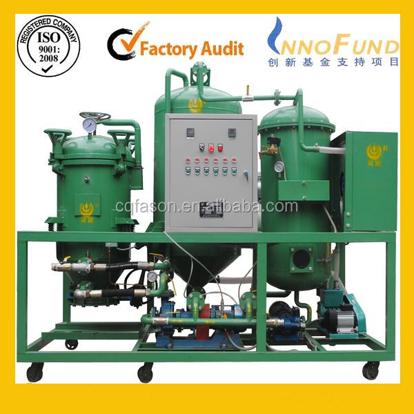 High vacuum waste engine oil recycling equipment series DTS oil recondition machine/waste oil recycling equipment