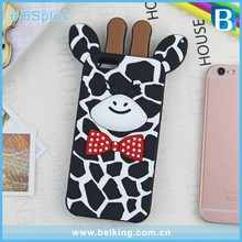 Cute Animal Shape Silicone Soft 3D Custom Phone Case for iPhone 6 6plus, Giraffe Design Rubber Hard Case for iPhone 6s