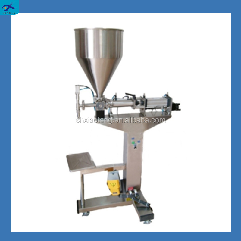 Used jam/tomato/chilli pasty manual filling machine with sauce material
