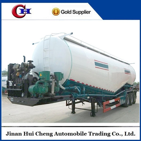 China HC hot sale 12R22.5 8units Tri-angle Brand Tire 50T bulk power/cement tractor semi trailer low price for sale