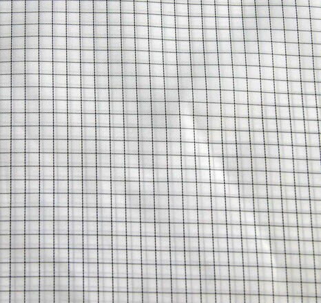 98% polyester and 2% ,110-205gsm Carbon white color ESD Grid Fabric