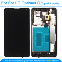 For LG Optimus G F180 E971 E973 E975 LS970 4.7 LCD Display Touch Screen Digitizer Assembly With Frame