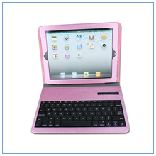 7inch Leather case wireless bluetooth keyboard broadcom 3.0 bluetooth keyboard QWERTY layout keyboard for ipad pad 2 tablet PC
