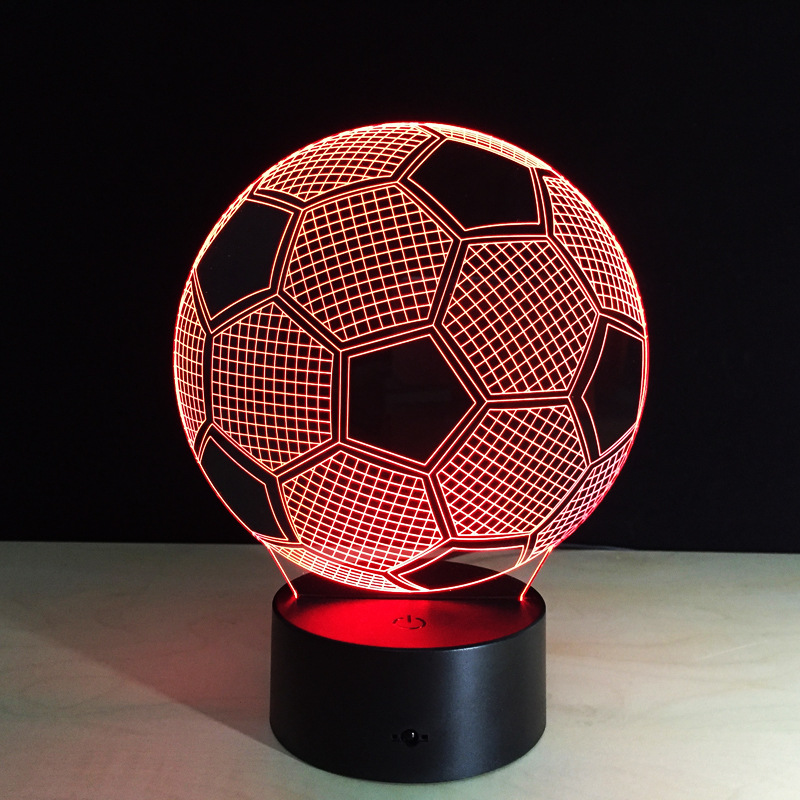 Football like led optical illusion 3D night light/Table Decoration Lamp