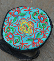 National wind Hand round embroidered bag Handmade Embroidered handBags handmade crochet handbags