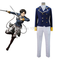 Attack on Titan: Wings of Counterattack Online Shingeki no Kyojin Rivaille Cosplay Costume Adult Men's Miitary Uniform Any Size