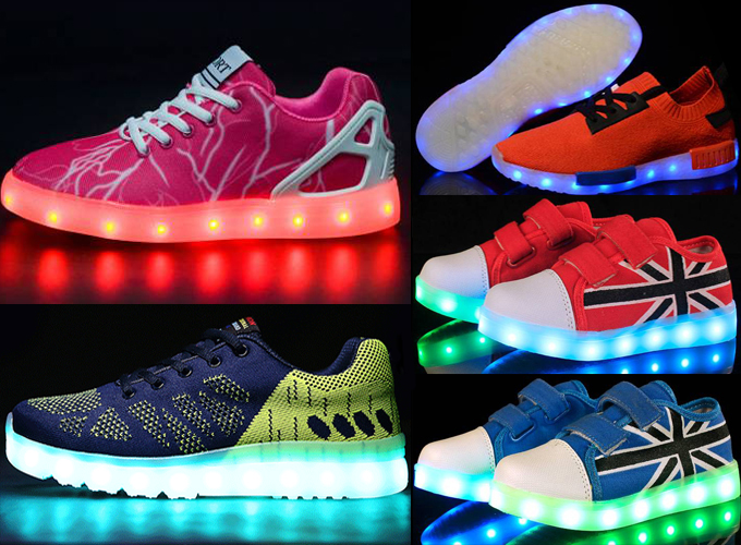 Original HIGH QUALITY with rechargeable battery led branded shoes copy