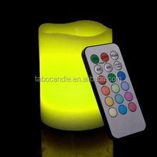 unscented flameless rgb led candle with remote control