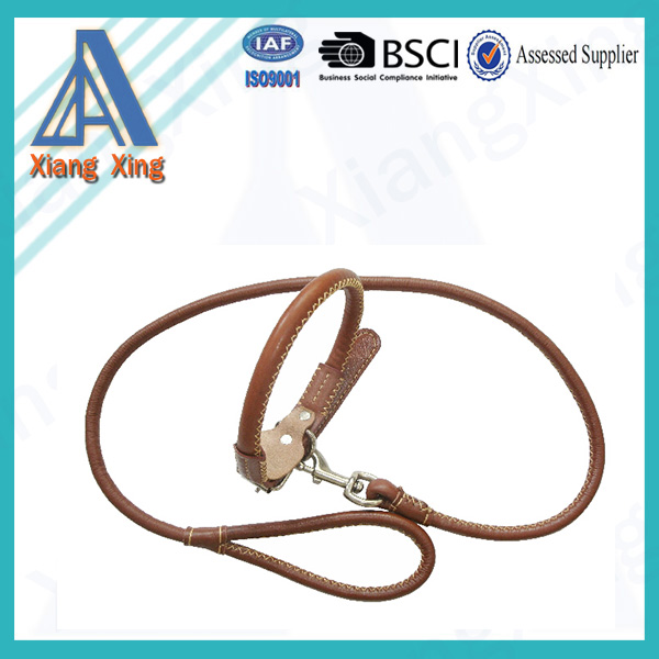 Wholesale China Genuine Leather Dog Collar And Leash