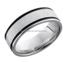 Black lines magnetic matte titanium rings cheap items to sell vertical tungsten ring