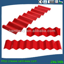 popular colorful zinc corrugated galvanized metal tile roof sheet in low price