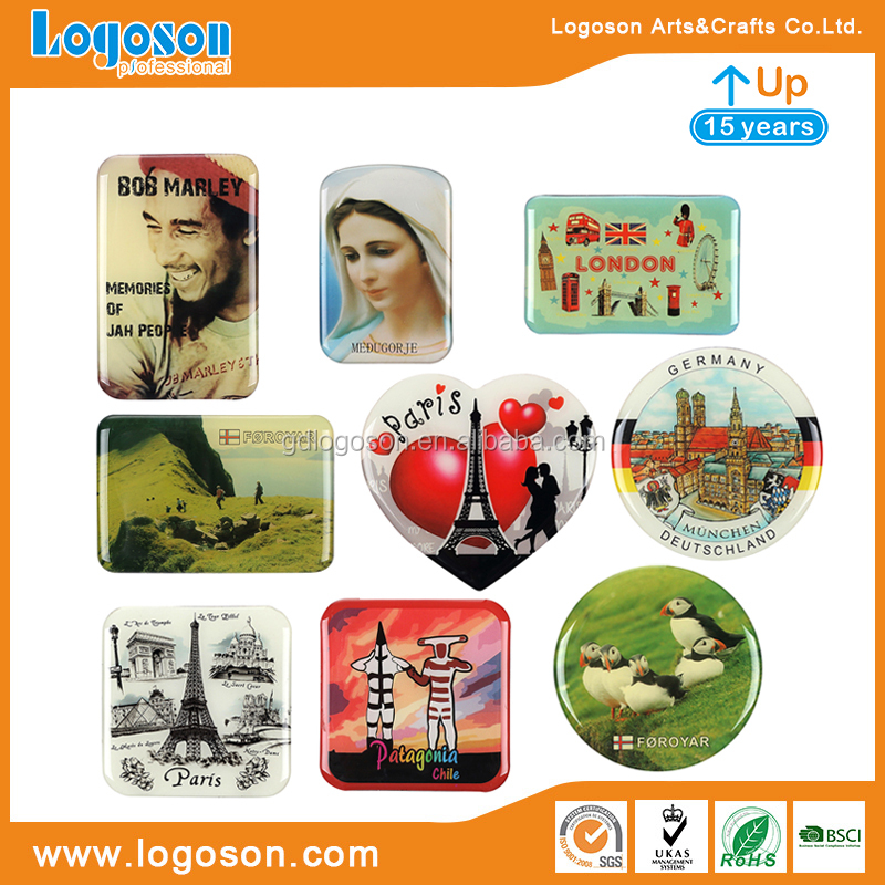 Magnets Supplier Home Kitchen Decoration High Quality Collectible Souvenirs Square Picture / Photo Fridge Magnet Foil Mangets
