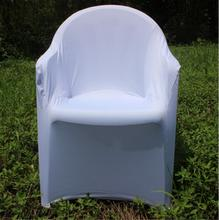 Spandex folding chair cover with arms plastic chairs lycra stretch chair cover cheap for wedding banquet from nantong