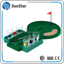 NBSS 10 years no complaint mini table drinking shot indoor mini golf game with 6 cups