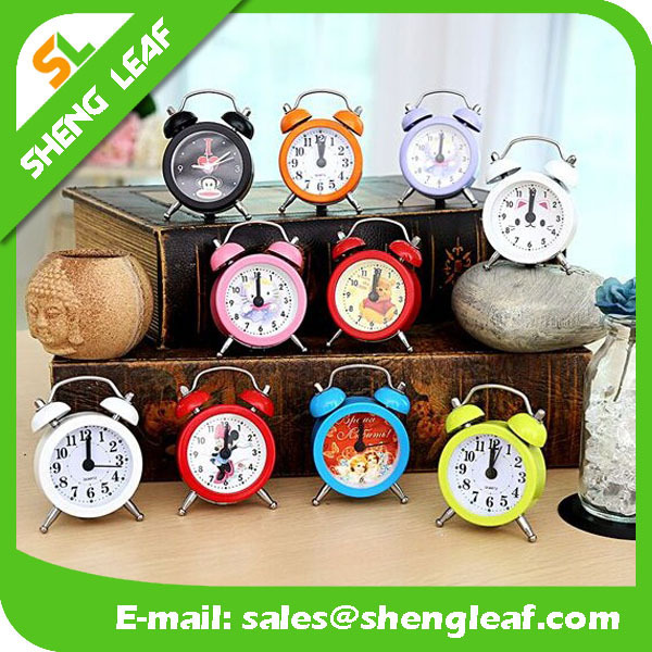 Students creative gifts personality metal small alarm clock movements wholesale customizable clock face