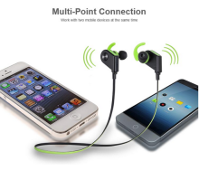 Patent Product V4.1 Stereo Sports Mini Wireless Earplug and Stereo Bluetooth Headset with MP3 Player RV8
