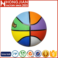 HB009 rainbow 8 color wholesale mini basketball deflate for santa claus