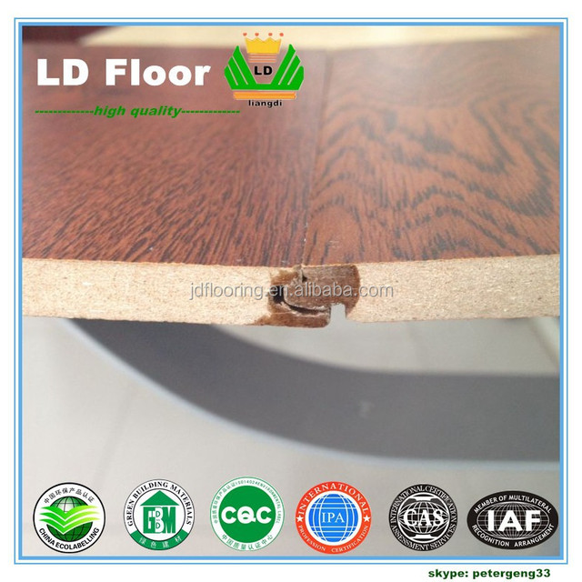 HDF MDF 8mm hdf chestnut engineered flooring