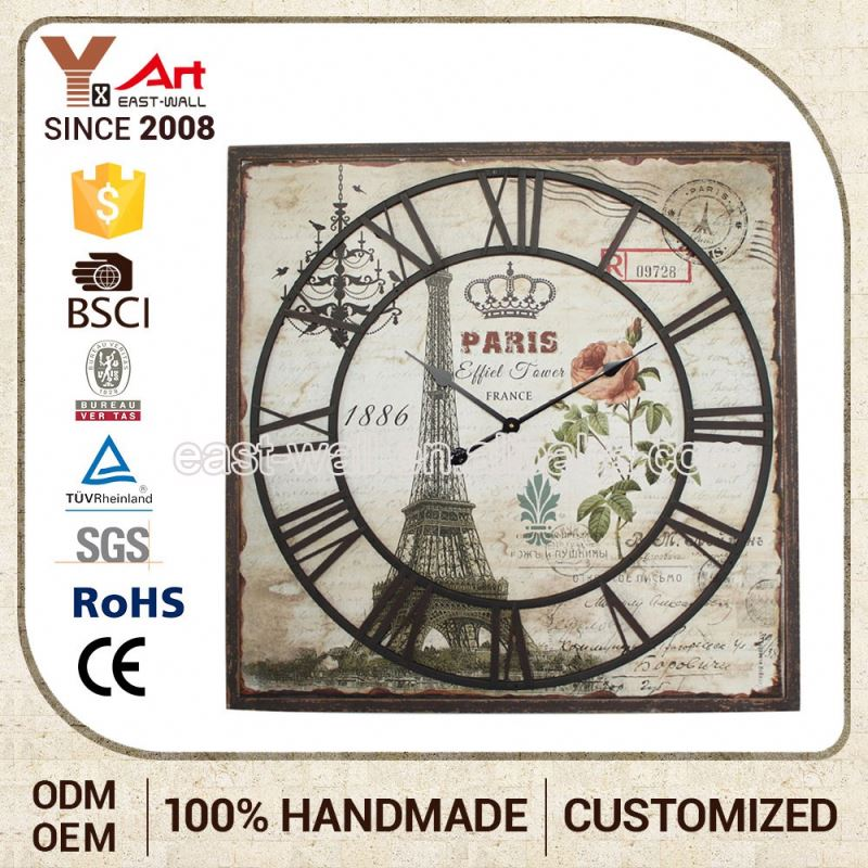 Cheap Prices New Style Iron Male Brass Wall Clock