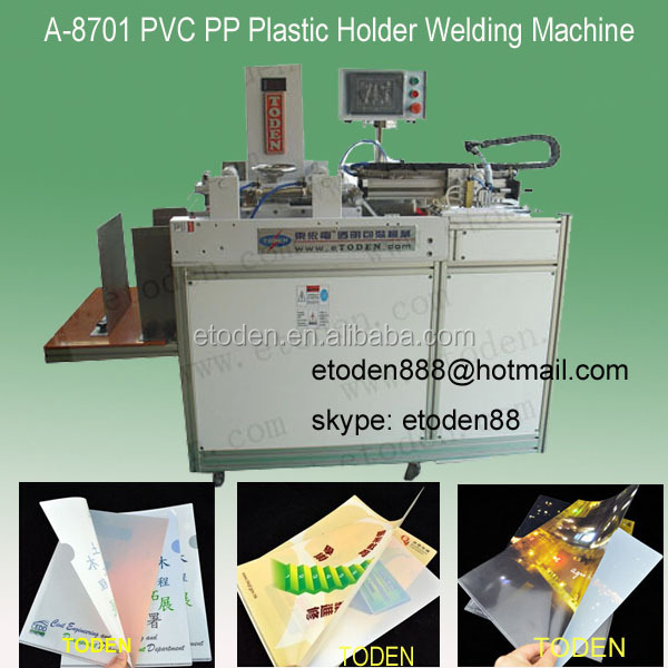 Plastic pocket file folder welding machine