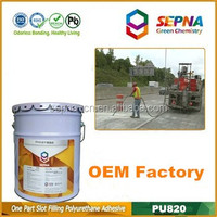OEM professional-grade cement color single component Self Leveling polyurethane concrete road repair adhesive