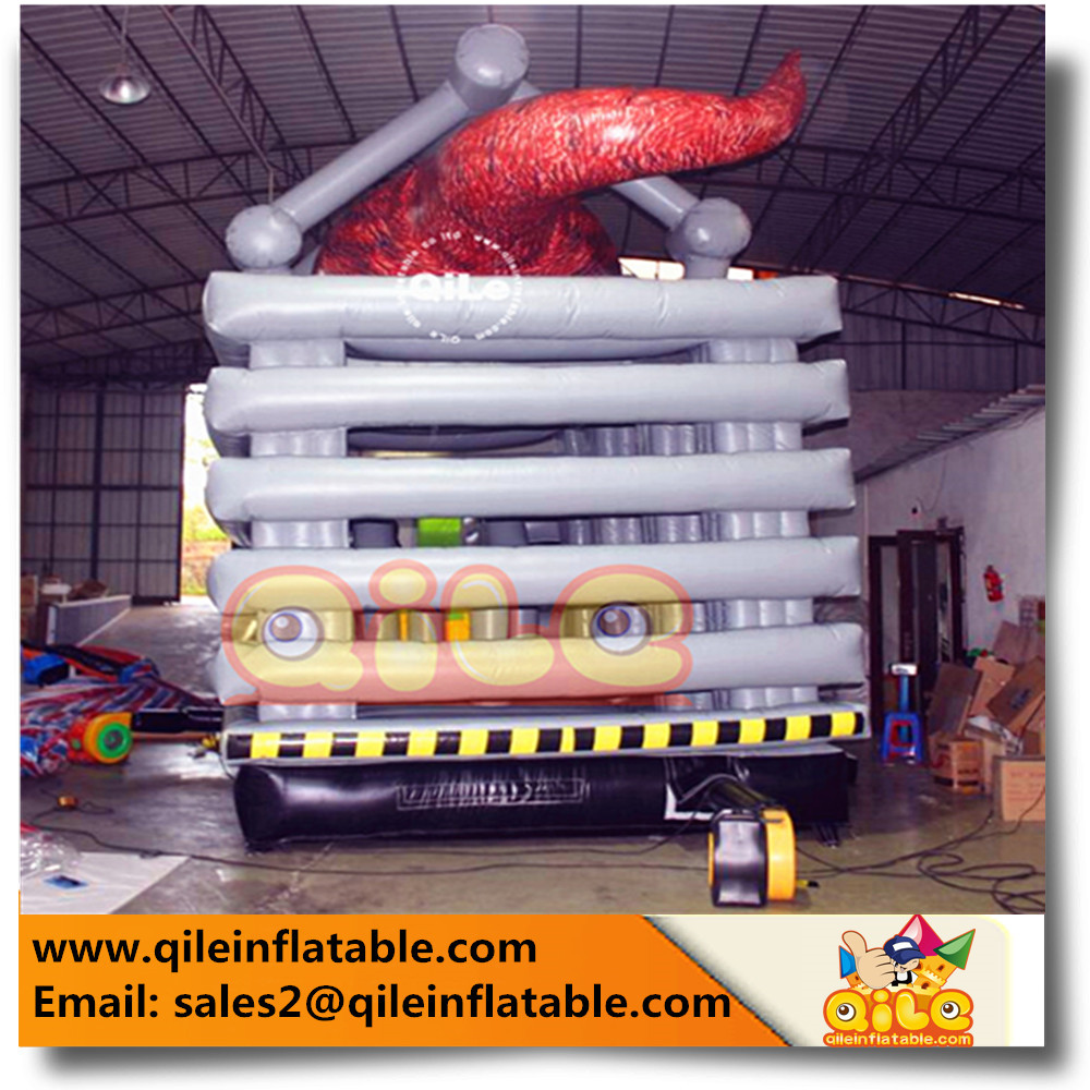 hot sale Inflatable Halloween dangerous horrible dragon Jumping Castle bouncy slide bouncer trampoline combo dinosaur house club