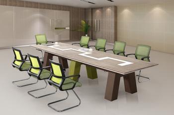 White Office Desk Modern Meeting Table