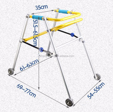 Aluminum Child baby Walker Rollator Foldable Walking Aid Physical Therapy Walker Rollator