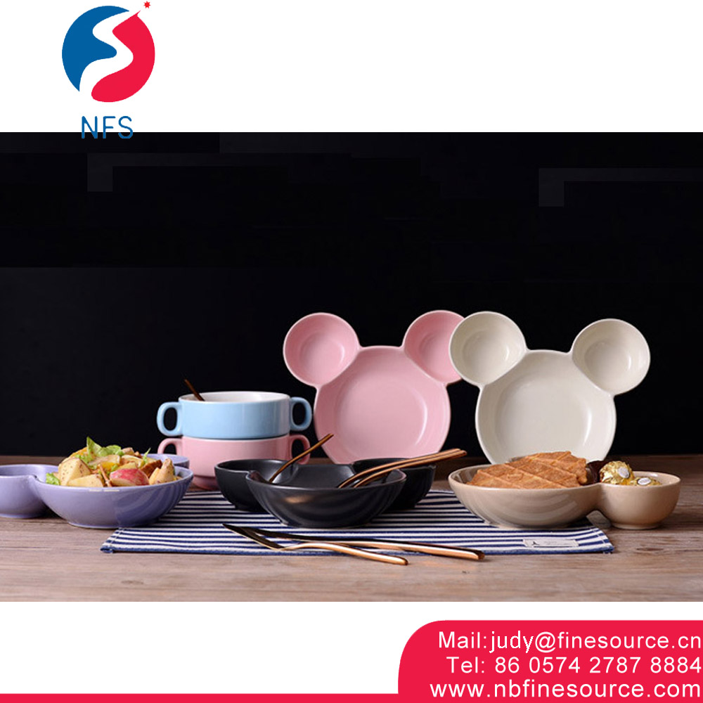 Mickey Mouse Head Ceramic Dip Bowl Wholesale Salad Bowl