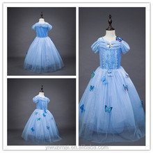 Pretty Kids Girls Butterfly Birthday Party Dresses One Piece Girls Cinderella Princess Costume Dress