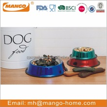 Metallic Color Stainless Steel Pet Bowl