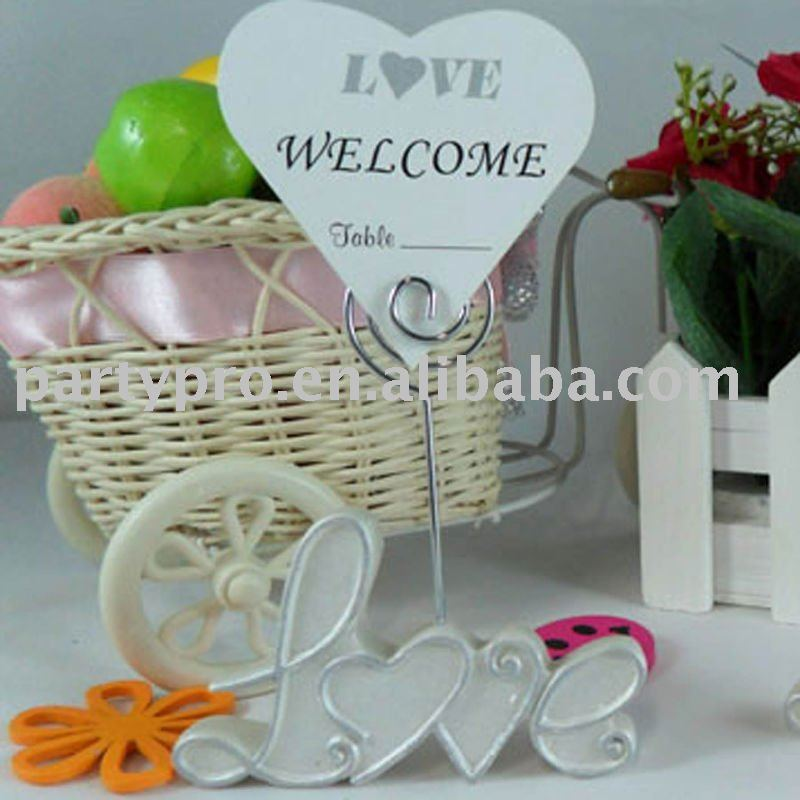wedding heart-shaped placecard holder