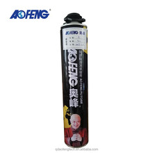 Customized printed 750ml pu foam expanding sealant fast curing Polyurethane FOAM agent
