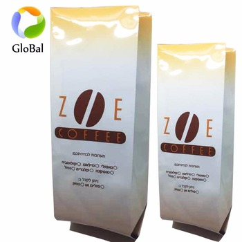 Custom printed aluminum foil coffee bag/coffee pouch/coffee packing bag with valve