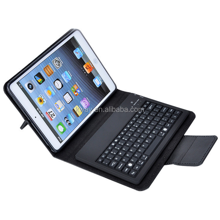 Leather Case Stand Cover with Removable Bluetooth Keyboard for Apple iPad mini 1 2 3 4