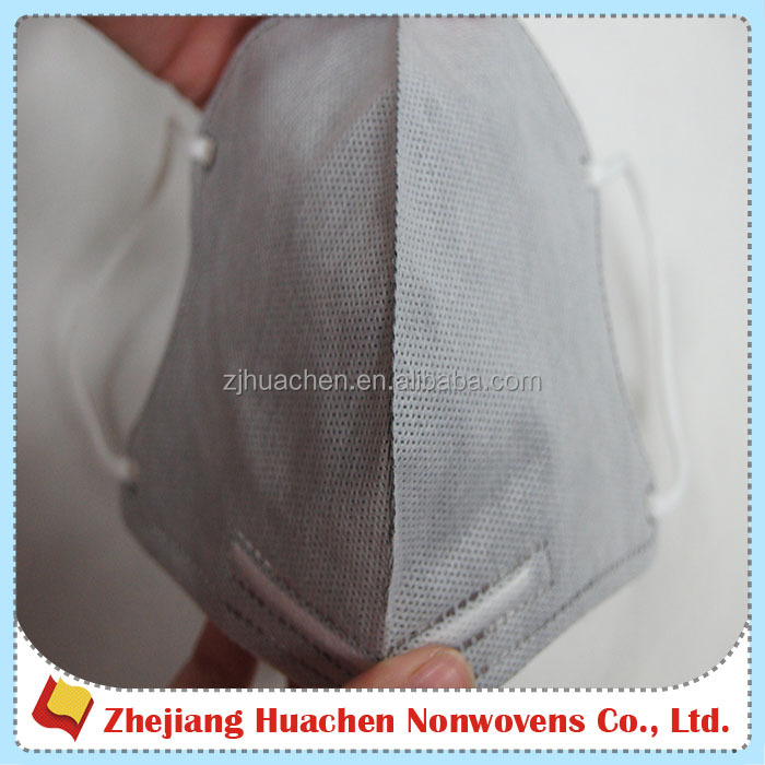 Anti Bacteria 100% Polypropylene Activated Carbon Filter 3D Dust Mask