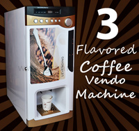 Three-hot-flavors and Desktop Vending Machine for Coffee/coffe/cafe F303V