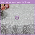 MX0106E Silver wholesale wedding Star embroidery crochet net sequin tablecloth