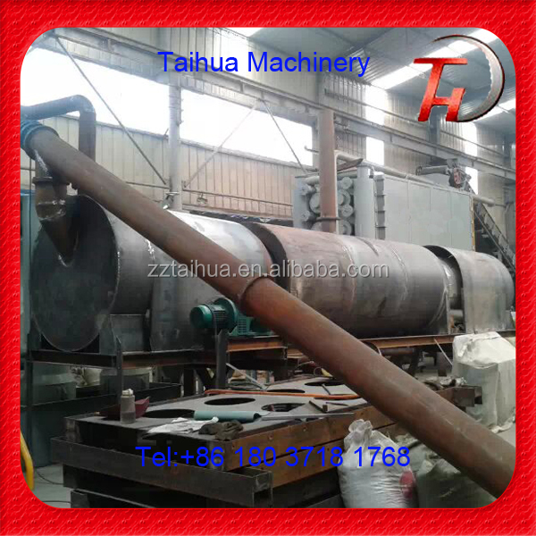 Continuous working biomass sawdust gasifier and charcoal