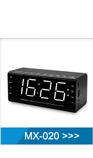 Wholesale red light bluetooth alarm clock radio
