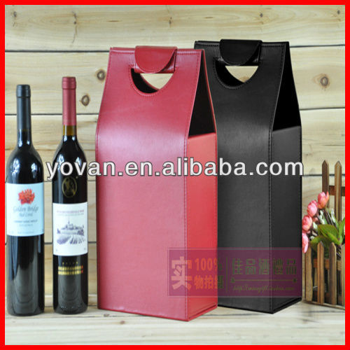 luxury wholesale leather wine bag