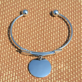 2017 Arrow Disc Charm Bracelet Monogram Disc Bangle Bracelet