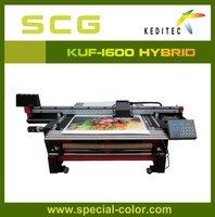 1.6M UV flat bed and roll to toll printer KUF-1600.foam board,PVC.PET printing machine
