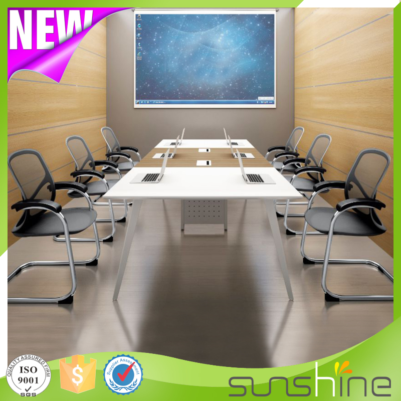 Simple Design Rectangle High Top Meeting Table With 10 Seats ZS-H3612